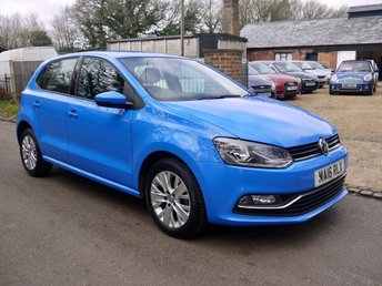 2016 VOLKSWAGEN POLO 1.0 BlueMotion Tech SE 5 Door Hatchback In Blue With Alloys £8495.00
