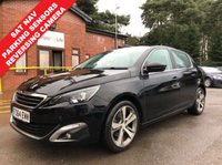 USED 2014 64 PEUGEOT 308 1.6 E-HDI ALLURE 5d 114 BHP Only 2 Previous Owners, Full Service History, having been serviced in October 2015, July 2016, August 2017 and August 2018 and an MOT until 25th November 2019. This is a stunning Peugeot 3008 Allure with a fantastic array of equipment including SAT NAV, Reversing Camera, Parking sensors, Climate Control, Bluetooth, Cruise Control, DAB Radio, USB/AUX, Alloy Wheels, £0 Road Fund Licence  and 2 keys. Nationwide Delivery Available. Finance Available at 9.9% APR Representative.