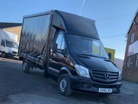 USED 2015 65 MERCEDES-BENZ SPRINTER 2.1 316 CDI 163 BHP LWB CURTAIN SIDE CURTAINSIDER RARE BLACK 316 CURTAIN SIDE, ONE OWNER,CRUISE, FDSH