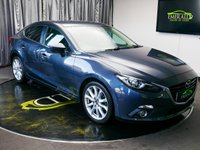 USED 2015 15 MAZDA 3 2.0 SPORT NAV 4d 118 BHP £0 DEPOSIT FINANCE AVAILABLE, AIR CONDITIONING, AUX INPUT, BLUETOOTH CONNECTIVITY, BOSE SOUND SYSTEM, CLIMATE CONTROL, CRUISE CONTROL, DAYTIME RUNNING LIGHTS, KEYLESS START, STEERING WHEEL CONTROLS, TRIP COMPUTER, USB CONNECTION
