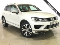 USED 2015 15 VOLKSWAGEN TOUAREG 3.0 V6 R-LINE TDI BLUEMOTION TECHNOLOGY 5d AUTO 259 BHP 1 Owner/Panoramic Roof/Sat Nav