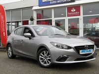 USED 2015 64 MAZDA 3 2.2 D SE NAV 5d 148 BHP STUNNING £20 ROAD TAX, 2015, MAZDA 3 SE 2.0 D NAV. Finished in ALUMINIUM SILVER metalic with contrasting GREY cloth interior. This Mazda comes packed with loads of features as standard. Its sporty looking and together with its £20 a year road tax and over 55 MPG its well worth a look. Features include Bluetooth, Power Folding Mirrors and 2 keys. Dealer Serviced at 13467 miles, 26335 miles, 35377 miles, 48171 miles and on arrival by EMC. 12 Months MOT.