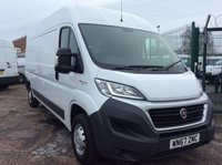 USED 2017 67 FIAT DUCATO LWB 2.3 35 L3H2 H/R MULTIJET II 129 BHP 1 OWNER FSH MANUFACTURER'S WARRANTY EURO 6 SPARE KEY BLUETOOTH ELECTRIC WINDOWS AND MIRRORS 6 SPEED