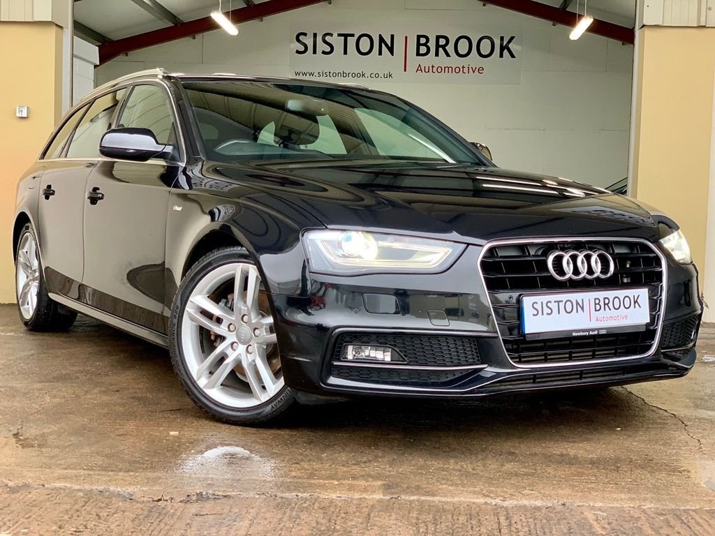 USED 2014 14 AUDI A4 2.0 AVANT TDI S LINE START/STOP 5d 148 BHP TECH PACK & PARKING SYSTEM +