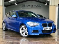 USED 2014 64 BMW 1 SERIES 2.0 116D M SPORT 3d 114 BHP ESTORIL BLUE+FSH+LOW MILES