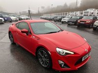 USED 2014 14 TOYOTA GT86 2.0 D-4S 2d 197 BHP Bright Red wit hBlack leather Diamond stitched Red, only 22,000 miles FSH