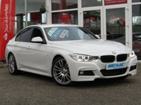 "USED 2014 64 BMW 3 SERIES 3.0 330D M SPORT 4d AUTO 255 BHP STUNNING, 1 OWNER, BMW 330D M SPORT, 3.0 AUTO, (Professional Media) 255 BHP. Finished in ARCTIC WHITE with contrasting FULL BLACK LEATHER INTERIOR. This Popular BMW 3 Series still retains its striking looks and together with its performance and economy makes it a perfect family auto saloon. Features include PRO SAT NAV, DAB, Harman Kardon, Full Leather, Park Sensors, Cruise, Upgraded 19"" Alloys and much more."