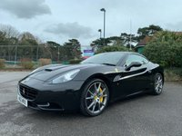 USED 2010 10 FERRARI CALIFORNIA 4.3 2d AUTO 460 BHP LOVELY SPEC CALIFORNIA IN BLACK WITH CREAM QUILTED LEATHER FULL FERRARI SERVICE HISTORY