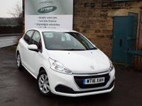 USED 2016 16 PEUGEOT 208 1.0 ACCESS A/C 5d 68 BHP One Owner Full Peugeot Dealer Service History