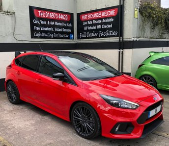 2018 FORD FOCUS RS *RED EDITION* 2.3 ECOBOOST 5DR 345 BHP DELIVERY MILEAGE £36495.00