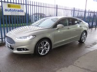 USED 2015 65 FORD MONDEO 2.0 TDCi Titanium (s/s) 5dr Sat Nav,Full Leather