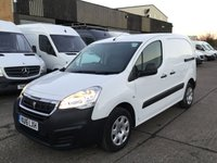 USED 2016 16 PEUGEOT PARTNER 1.6 HDI S L1 850 1d 92 BHP. 1 OWNER. FSH. LOW MILEAGE. 1 OWNER. ONLY 48K. FSH. LOW FINANCE. PX