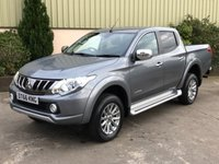 USED 2017 66 MITSUBISHI L200 2.4 DI-D 4WD WARRIOR DCB 1d 178 BHP LEATHER, SAT NAV, REVERSE CAMERA,