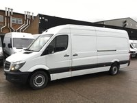 USED 2015 15 MERCEDES-BENZ SPRINTER 2.1 313CDI LWB HIGH ROOF 130BHP. 1 OWNER. FSH. FINANCE. 1 OWNER. FULL SERVICE HISTORY. CHEAPEST 2015 MODEL.