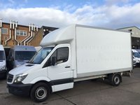USED 2016 66 MERCEDES-BENZ SPRINTER 2.1 313CDI LWB LUTON BOX TAIL-LIFT EURO 6. MERC WARRANTY. MERCEDES WARRANTY 11/2019. EURO 6 ULEZ. FINANCE. PX