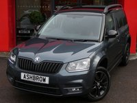 USED 2016 66 SKODA YETI 1.2 TSI MONTE CARLO DSG 5d AUTO 110 S/S UPGRADE SPACE SAVING SPARE WHEEL, UPGRADE TOOL KIT & JACK, FULL MONTE CARLO BODY KIT, LED XENON LIGHTS, HEADLAMP WASHERS, FRONT FOG LIGHTS, 17 INCH 10 SPOKE ALLOY WHEELS, BLACK ROOF DOOR MIRRORS AND GRILLE OPTIC, BLACK ROOF RAILS, REAR PARK PILOT WITH DISPLAY, BLACK CLOTH INTERIOR, TINTED GLASS, SPORT SEATS, LEATHER FLAT BOTTOM MULTIFUNCTION STEERING WHEEL, LIGHT & RAIN SENSORS, CRUISE CONTROL, BLUETOOTH PHONE & MUSIC STREAMING, SD CARD READER, SMART LINK READY, 1 OWNER FROM NEW, SKODA WARRANTY