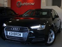 USED 2016 66 AUDI A4 2.0 TDI ULTRA SE 4d 150 S/S £0 TAX, 1 OWNER, FULL SERVICE HISTORY, NEW SHAPE, SAT NAV, AUDI SMART PHONE WITH APPLE CAR PLAY & ANDROID AUTO, AUDI CONNECT, DAB, CRUISE W/ SPEED LIMITER, LED DAYTIME RUNNING LIGHTS, BLUETOOTH PHONE & MUSIC STREAMING, FRONT & REAR PARKING SENSORS WITH DISPLAY, 17 IN ALLOYS, LEATHER MULTIFUNCTION STEERING WHEEL, LIGHT & RAIN SENSORS, AUDI DRIVE SELECT, KEYLESS START, WIRELESS LAN (WLAN), WIFI, AUX INPUT, 2x USB PORTS, CD WITH 2x SD CARD READERS & SIM CARD READER, TYRE PRESSURE MONITORING, VAT Q