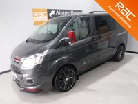 USED 2016 59 FORD TRANSIT CUSTOM 2.2 290 LIMITED LR DCB 1d 155 BHP AMAZING VAN WITH A GREAT SPEC WITH 5 SEATS , SPORTS BODY KIT,   REVERSING CAMERA,  SERVICE  HISTORY FINISHED IN GRAY METALLIC,WITH IMMACULATE BODY WORK AND UNMARKED INTERIOR,  ELEC WINDOWS, REMOTE CENTRAL LOCKING, RADIO CD USB POINT, , FRONT AND REAR PARKING SENSORS, CARGO LINED, BULK HEAD,  J