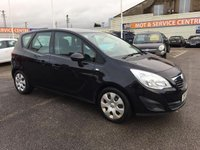 USED 2011 11 VAUXHALL MERIVA 1.4 EXCLUSIV 5d 119 BHP GOT A POOR CREDIT HISTORY * DON'T WORRY * WE CAN HELP * APPLY NOW *