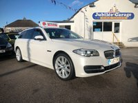 USED 2013 63 BMW 5 SERIES 2.0 520D SE TOURING 5d AUTO 181 BHP Low Miles, Full History, Pearl White, Sat Nav!