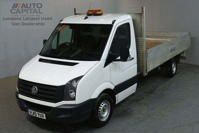 2015 15 VOLKSWAGEN CRAFTER 2.0 CR35 TDI 109 BHP LWB DROPSIDE LORRY REAR BED LENGTH 13 FOOT 6 INCH