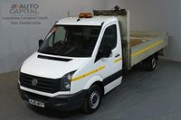 USED 2015 15 VOLKSWAGEN CRAFTER 2.0 CR35 TDI 109 BHP LWB S/CAB DROPSIDE LORRY REAR BED LENGTH 13 FOOT & 7 INCH