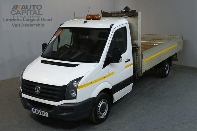 2015 15 VOLKSWAGEN CRAFTER 2.0 CR35 TDI 109 BHP LWB DROPSIDE LORRY REAR ELECTRIC CRANE FITTED