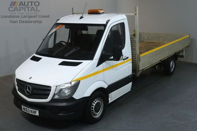 2013 63 MERCEDES-BENZ SPRINTER 2.1 313 CDI LWB RWD 129 BHP S/CAB DROPSIDE LORRY REAR BED LENGTH 14 FOOT