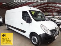 USED 2016 66 RENAULT MASTER 2.3 LM35 BUSINESS DCI S/R P/V 125 BHP LWB VAN '' YOU'RE IN SAFE HANDS  ''  WITH THE AA DEALER PROMISE