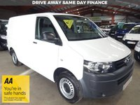 USED 2011 61 VOLKSWAGEN TRANSPORTER 2.0 T28 TDI 102 BHP SWB VAN '' YOU'RE IN SAFE HANDS  ''  WITH THE AA DEALER PROMISE