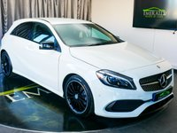 """USED 2016 16 MERCEDES-BENZ A CLASS 2.1 A 200 D AMG LINE PREMIUM 5d AUTO 134 BHP £0 DEPOSIT FINANCE AVAILABLE, 8"""" COLOUR DISPLAY SCREEN, AIR CONDITIONING, BLUETOOTH CONNECTIVITY, COLLISION PREVENTION ASSIST PLUS, DAYTIME RUNNING LIGHTS, DYNAMIC DRIVE MODE SELECTOR, ELECTRONIC PARKING BRAKE, GEARSHIFT PADDLES, HEATED SEATS, HILL START ASSIST, MERCEDES CONNECT ME, PARK ASSIST PILOT, REVERSE CAMERA, START/STOP SYSTEM, STEERING WHEEL CONTROLS, TRIP COMPUTER, USB CONNECTION"""