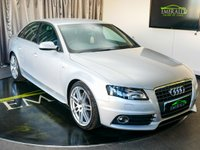 USED 2010 M AUDI A4 2.0 TDI S LINE SPECIAL EDITION 4d 141 BHP £0 DEPOSIT FINANCE AVAILABLE, AIR CONDITIONING, BANG & OLFUSEN SOUND SYSTEM, CLIMATE CONTROL, DAB RADIO, DAYTIME RUNNING LIGHTS, ELECTRONIC PARKING BRAKE, FULL S LINE LEATHER UPHOLSTERY, STEERING WHEEL CONTROLS, TRIP COMPUTER, XENON HEADLIGHTS
