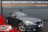 "USED 2015 65 BMW 4 SERIES 3.0 430D M SPORT 2d AUTO 255 BHP Finished in stunning Mineral grey Metallic with Full Black Leather, 18"" Alloy Wheels, 1 Owner and Full BMW Service History. Pro Sat Nav, Memory/Electric/Heated  Seats, Privacy Glass, Parking Sensors, Sunroof"
