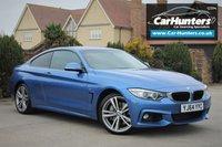 "USED 2014 64 BMW 4 SERIES 3.0 435D XDRIVE M SPORT 2d AUTO 309 BHP PRO NAV HEATED BLACK LEATHER 19"" ALLOYS"