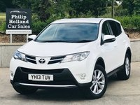 USED 2013 V TOYOTA RAV4 2.2 D-4D ICON 5d 150 BHP AWD 4WD Reverse parking camera, Bluetooth, Cruise control, Power tailgate