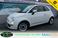 USED 2014 14 FIAT 500 0.9 TWINAIR LOUNGE 3d 85 BHP PETROL WHITE FULL SERVICE HISTORY + ONE OWNER FROM NEW + £20 PER YEAR TO TAX
