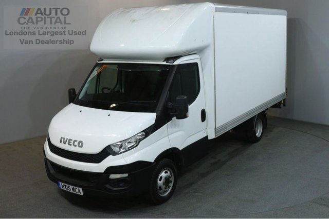 2015 15 IVECO DAILY 2.3 35C13 126 BHP LWB RWD TWIN WHEEL LUTON WITH TAIL LIFT
