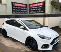USED 2017 67 FORD FOCUS RS 2.3 5DR 345 BHP, 5 YEAR WARRANTY, HEATED STEERING WHEEL LOWER TAX BRACKET, LUX PACK & SHELL SEAT UPGRADE