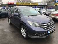 2013 HONDA CR-V 2.0 I-VTEC SE 5 DOOR 153 BHP IN METALLIC BLUE WITH 65000 MILES WITH REVERSE CAMERA IN IMMACULATE CONDITION.  £10299.00
