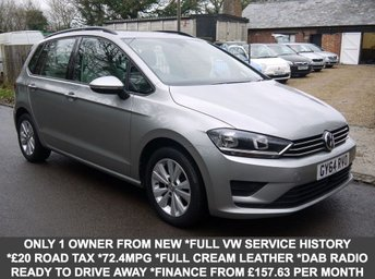 2014 VOLKSWAGEN GOLF SV 1.6 TDI SE 5 Door MPV In Silver With Full Cream Leather £9495.00