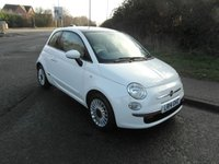 USED 2014 14 FIAT 500 1.2 LOUNGE Petrol £30 a year tax. Bluetooth.