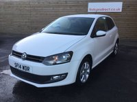 USED 2014 14 VOLKSWAGEN POLO 1.2 MATCH EDITION 3d LOW MILEAGE