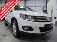 "USED 2013 13 VOLKSWAGEN TIGUAN 2.0 SE TDI BLUEMOTION TECHNOLOGY 5d 138 BHP Full Service History, Park Pilot and Park Assist, Bluetooth Phone and Media Streaming, DAB Radio/CD/MMI/BT, Climate Control, Auto Lights and Wipers, Heated Electric Mirrors, Remote Central Locking, 17"" Alloys"