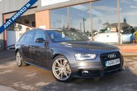 USED 2015 65 AUDI A4 2.0 AVANT TDI QUATTRO S LINE BLACK ED NAV 5d 187 BHP QUATTRO, ESTATE, 190 BHP, XENONS, SAT NAV, 2 KEYS, FULL LEATHER, CRUISE