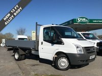 USED 2010 10 FORD TRANSIT 2.4 350 MWB 1d 100 BHP Direct BT, 12 FT NEW Alloy Dropside, Well Above Average Example, Finance Arranged.