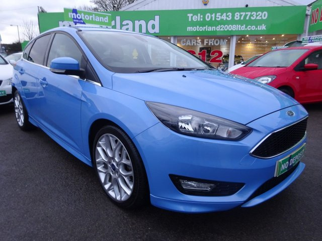 USED 2016 16 FORD FOCUS 1.0 ZETEC S 5d 124 BHP FACTORY FITTED SAT NAV....1 PRIVATE OWNER FROM NEW.....FULL SERVICE HISTORY