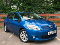 USED 2012 12 TOYOTA AURIS 1.6 TR 5dr Service History