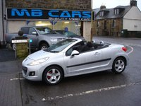 USED 2011 11 PEUGEOT 207 1.6 CC SPORT 2d 120 BHP ONLY 61000 MILES FROM NEW,CONVERTIBLE