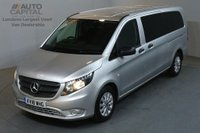 USED 2018 18 MERCEDES-BENZ VITO 2.1 114 BLUETEC TOURER SELECT 136 BHP EXTRA LWB EURO 6 AIR CON 9 SEATER £24,490+VAT NEW 18 PLATE