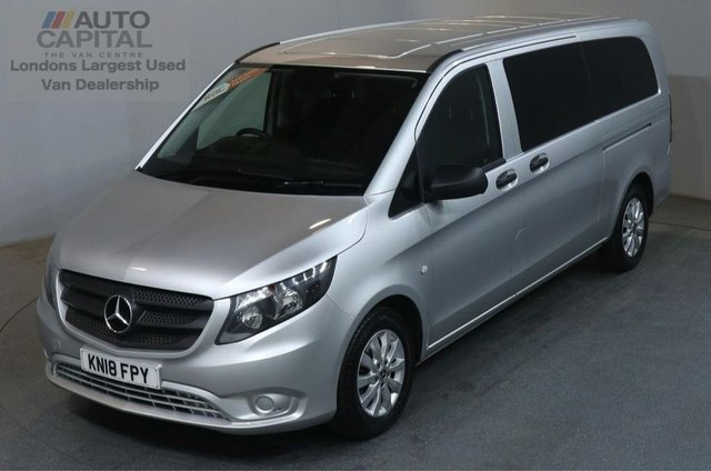 2018 18 MERCEDES-BENZ VITO 2.1 114 BLUETEC TOURER SELECT 136 BHP EXTRA LWB EURO 6 AIR CON 9 SEATER AIR CONDITIONING NEW 18 PLATE